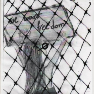 child detained in Nauru expressing his thoughts of freedom