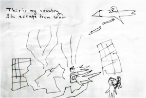 drawing of a child detained in Nauru 2