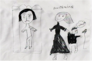 drawing of a child detained in Nauru