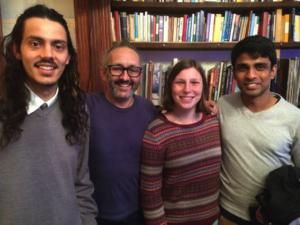 From left: James, Ravi, Megan and Vijhai